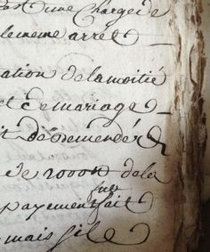Found French manuscript 1700's FleaingFrance Brocante Society