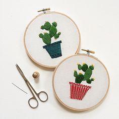 cacti embroidery - Sarah K Benning