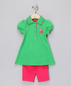 Parrot Green Polo Dress & Shorts  from U.S. POLO Association on #zulily