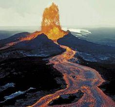 Kilauea Lava Flow Migration Hawaii