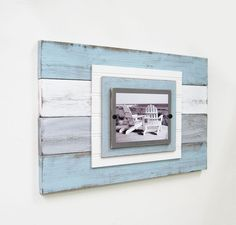 BIG 14x22 Distressed Plank Frame for 5x7 with by ProjectCottage