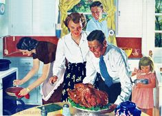 The bird is ready! #Thanksgiving #Christmas #1950s #family
