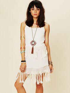 Free People Fringe Dream Mini Dress