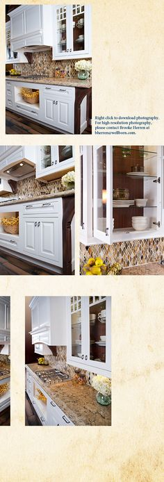 love the backsplash- but with different counter top.