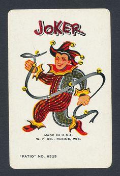 house woman playing card single swap JOKER - 1 card