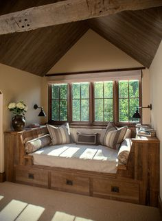 Upper Reading Room rustic-bedroom