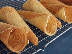 Simply Sweet: Norwegian Krumkake  (A must make every Christmas!  Still use my Great Grandma Berg's recipe.)