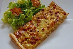 Pfälzer Zwiebelkuchen mit Blätterteig (Rezept mit Bild)   Chefkoch.de