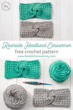 Riverside Headband Earwarmer - Free Crochet Pattern - The Stitchin Mommy Crochet Crafts, Yarn Crafts, Easy Crochet, Crochet Baby, Crochet Projects, Free Crochet, Bandeau Crochet, Crochet Headband Free, Crochet Beanie