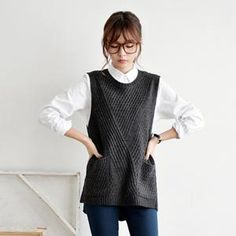 Buy 'JUSTONE – Dip-Back Knit Vest' with Free International Shipping at YesStyle.com. Browse and shop for thousands of Asian fashion items from South Korea and more!