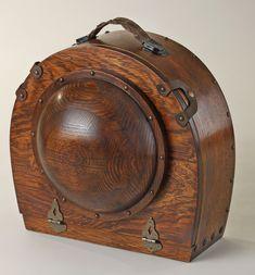Steam Bent Solid Oak Hat Box
