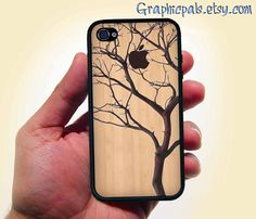 Natural Wood Grain with Tree Design iphone 4 4s by Graphicpals, $15.00