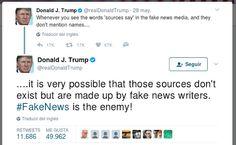 """Donald Trump cargó contra la prensa en su cuenta de Twitter   Después de su regreso a los Estados Unidos luego de una gira internacional de nueve días el mandatario estadounidense acusó a los medios de comunicación de """"fabricar"""" muchas de las noticias que publican sobre la Casa Blanca. """"Es mi opinión que muchas de las filtraciones que salen desde dentro de la Casa Blanca son mentiras fabricadas inventadas por los medios de comunicación falsos"""" escribió Trump en su cuenta de Twitter con la…"""
