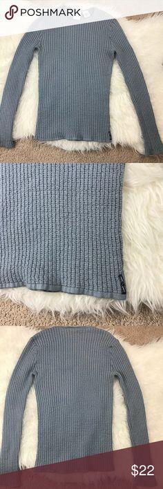 Armani Exchange gray ribbed sweater Armani Exchange gray ribbed sweater in size Small.   73%wool 27%nylon A/X Armani Exchange Sweaters Crew & Scoop Necks