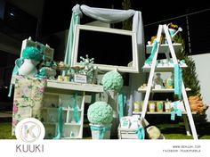 Mesa de dulces | cumpleaños | fiesta | tiffany & rosa | vintage | rústica | www.beKUUKI.com