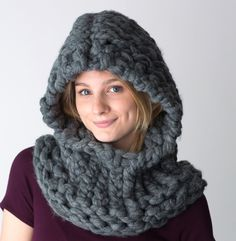 Hooded Pixie Cowl Free Patternfr