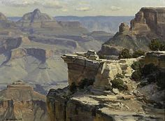"""""""Grand Canyon,"""" Clyde Aspevig, 1984, oil on masonite, 12 x 16"""", private collection."""