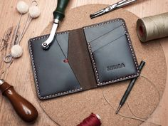 Horween Chromexcel No8 Leather Bifold Wallet Ox Blood by SHKIRA