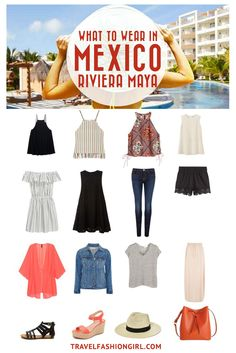 Planning a beach vacation to Mexico's Riviera Maya? Use this guide to pack stylishly light with only 10 pieces! If you're planning a vacation to Cancun, Puerto Vallarta, Isla Mujeres and more, this packing guide will have there in no time! | travelfashiongirl.com