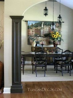 Tuscan Dining Room Decorating Ideas - mediterranean - dining room - other metro - by TuscanDecor.com - Diane Hendrickson