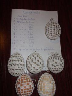 Susan Elliott's media content and analytics Easter Egg Pattern, Easter Crochet Patterns, Egg Basket, Easter Baskets, Christmas Balls, Christmas Ornaments, Polish Easter, Crochet Snowflakes, Egg Decorating