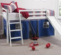 Cabin Bed Whitewash Mid Sleeper Bunk with Slide Blue Tent... https://www.amazon.co.uk/dp/B007K1FI2W/ref=cm_sw_r_pi_dp_x_uPPZxb7CQ8PWR