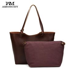 New Women Large Handbags High Quality Retro Split Leather Shoulder Shopping Bag Casual Crazy Horse Pattern Ladies Composite Bags