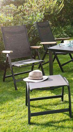 Gartenstühle In Anthrazit Und Bronze | Klapbarer Gartenstuhl Von Kettler    Granada Klappsessel Aus Aluminium Und