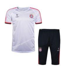 2016-17 Champions Bayern München White Short-Sleeved Sweater Uniform