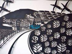 Detail of a large papercut by Caroline Rees www.blastedglass.co.uk