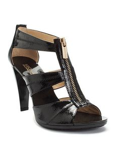 Michael Kors zipper heels- have coveted these for years and finally bought!