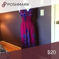 💗 Boho boutique dress Long dress- bought in NYC in a boutique. The fabric is so soft and comfortable. Pair this with a jean jacket and you are ready for fall.  This is such a flattering dress. 👌🏻🍸 Dresses Maxi