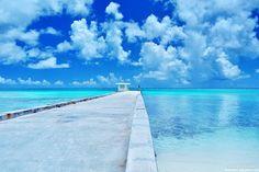 マニャガハ島の桟橋