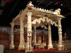 Temple Mandap ( Swami Narayan,s ) by www.aayojan.com of Atlanta, GA 678-764-5453 Indian Wedding Decorations, Wedding Reception Decorations, Indian Weddings, Wedding Vows, Wedding Vendors, Indian Temple, South Asian Wedding, Atlanta, Indian Bridal