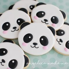 Panda Face / Animal Face Cookie Cutter for Sugar Cookies, Fondant, Clay or Dough from TroubleBaker on Etsy Studio Panda Themed Party, Panda Birthday Party, Panda Party, 9th Birthday, Panda Cupcakes, Panda Bebe, Cute Panda, Panda Kawaii, Iced Cookies