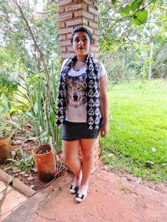#Fashion #WolfTshirt #SkullScarf