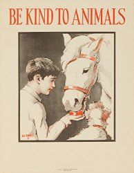So cute for a kid's room or ranch home. I love horses! Be kind to animals is such a sweet thing to hang up. I can see this in a horse themed nursery- or just a nursery with soft colors like cream and blush.