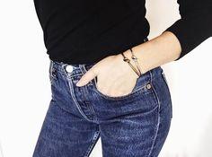 Jewel Rue  Tangled Cuff    #jewelry #jewllery #minimal #bracelet #bangle #fashionblogger #styleblogger #streetstyle #silver #gold