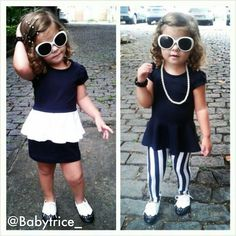 Can't forget about the little ones. Cute baby girl outfit black and white :)