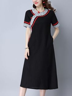 Retro New Style Slim Dresses_Short Sleeve Dress_DRESSES_Wholesale clothing, Wholesale Clothes Online From China