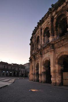 Amphitheatre in Nîmes by Kirsty.caddy, via Flickr  #roman #archaeology #france