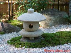 Small Japanese-garden, statuary, lanterns, design ideas