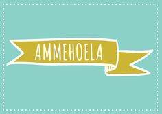Ammehoela! Kaartje byBean. Je shopt 'm hier: http://www.bybean.nl/kaartjeammehoela