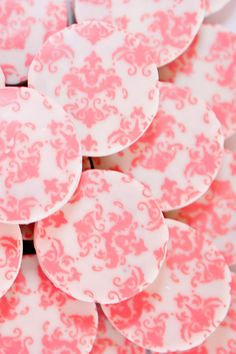 EXCLUSIVE Designer PINK DAMASK Chocolate Covered Oreos -Girl Party Wedding Shower Birthday Gift Favor on Etsy, $24.00