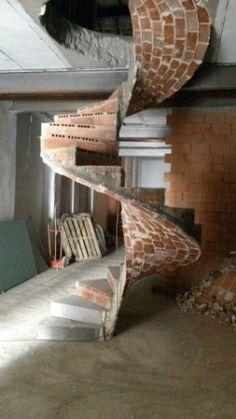 Spiral Stairs Design, Stair Design, Masonry Work, Brick Architecture, Brickwork, Wabi Sabi, Outdoor Furniture, Outdoor Decor, Interior Design