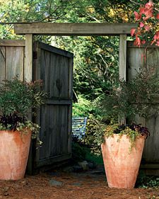 autumn garden, garden ideas, door, gate, entranc garden
