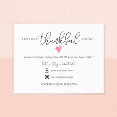 Thank You For Your Business Cards Thank You For Your Order Small Business Cards, Business Thank You Cards, Wedding Thank You Cards, Business Ideas, Thank You Customers, Thank You For Order, Thank You Card Design, Thank You Card Template, Love One Another Quotes