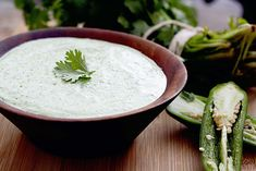 quick and easy cilantro cream sauce. Perfect for quesadillas, grilled meats and vegetables, and tacos