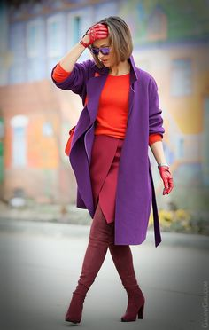 purple max mara coat on GalantGirl.com