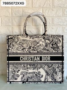 Christian Dior book tote embroidered tiger black color Christian Dior Bags, Monogram, Michael Kors, Book, Pattern, Fashion, Moda, Fashion Styles, Patterns